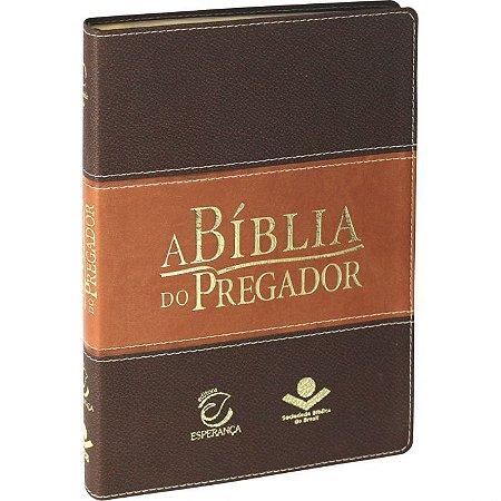 Bíblia do Pregador  Marrom Claro/Escuro com índice RA