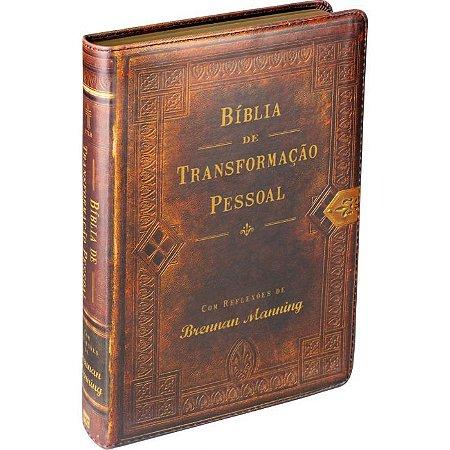 Bíblia Transformação Pessoal Capa Sint. Marrom Soft NTLH