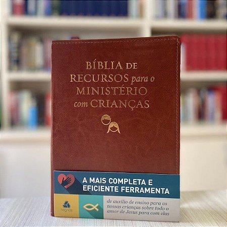 Bíblia de recursos para o ministério com crianças - Luxo PU marrom