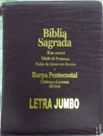 Bíblia Jumbo cores com Harpa Pentecostal