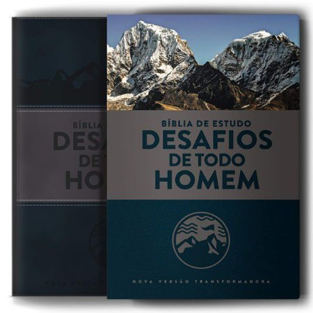 BIBLIA DE ESTUDO NVT DESAFIOS DE TODO HOMEM AZUL