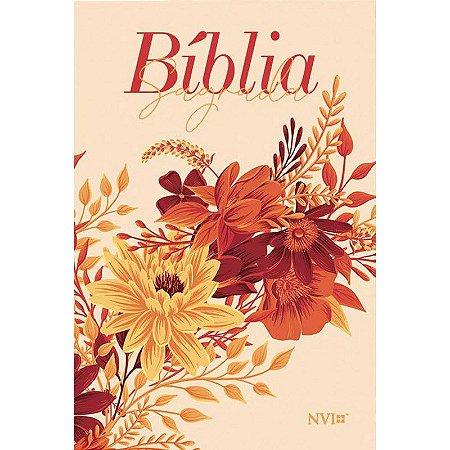BIBLIA NVI LETRA GIGANTE BUQUE CREME