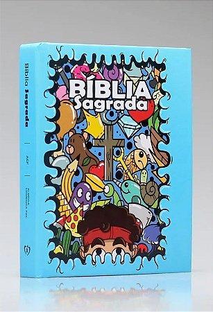 BIBLIA ACF CAPA DURA CARTOON TURMINHA FAMILIA CRISTA