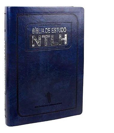 Bíblia de estudo NTLH azul média
