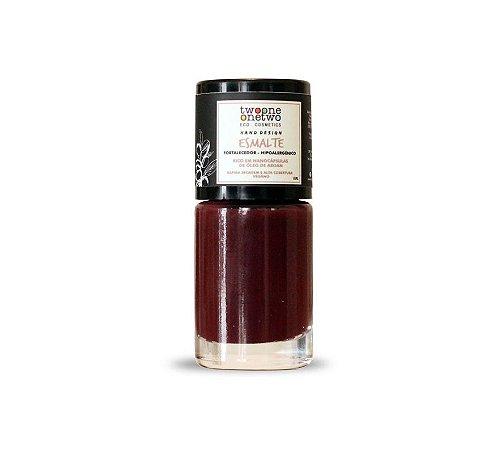 Esmalte Hipoalergênico Vegano Fortalecedor Twoone Onetwo 10ml Brandy Wine (REF 1203)