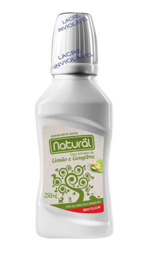 Enxaguante Bucal Natural com Ingredientes orgânicos e Naturais - Orgânico Natural 250mL.