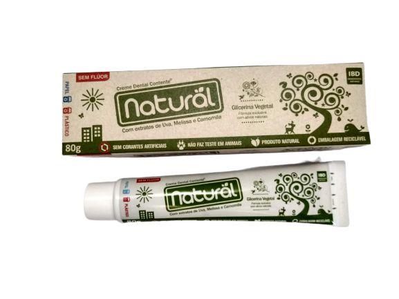 Creme Dental Suavetex Natural com ingredientes orgânicos e naturais 80g.