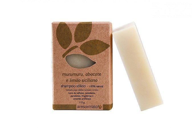 Shampoo sólido 100% Natural e Vegano - Murumuru, Abacate e Limão Siciliano – Ares De Mato -115g