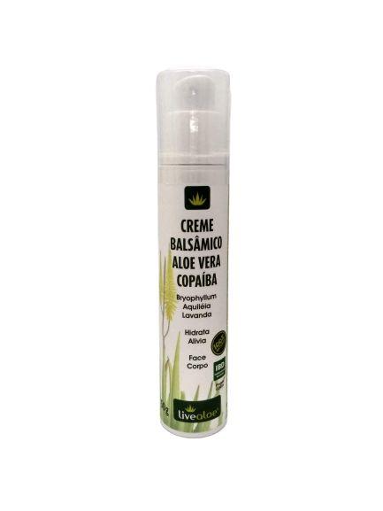 Creme Balsâmico Natural Aloe Vera Copaíba – Livealoe – 50g
