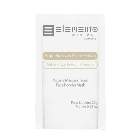 Argila Branca Com Pó De Pérolas - Elemento Mineral - 30g