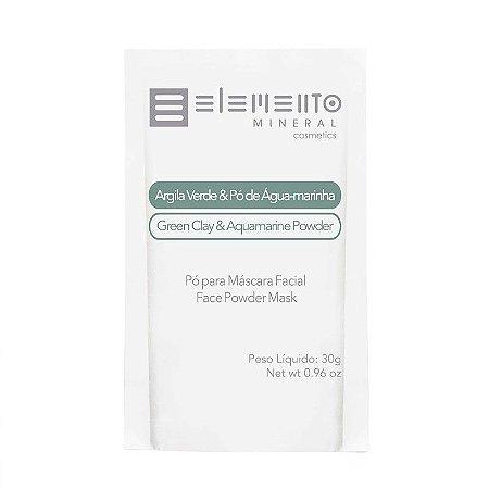 Argila Verde Com Pó De Água-marinha - Elemento Mineral -30g