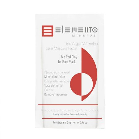 Bio Argila Vermelha - Elemento Mineral -30g