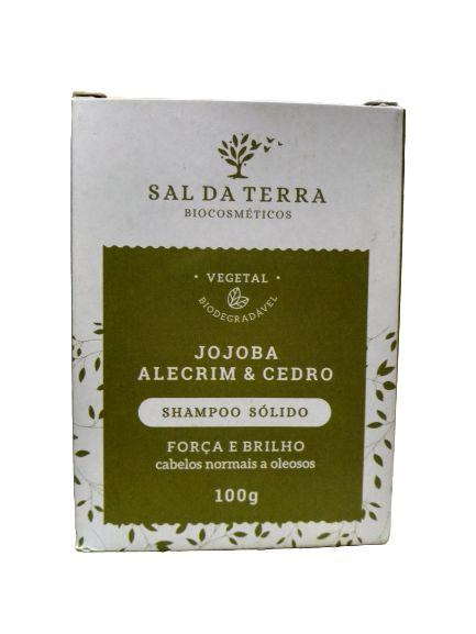 Shampoo Sólido Jojoba, Alecrim e Cedro – Sal da Terra -100 g