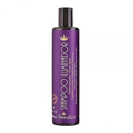 Shampoo Iluminador Aloe Vera – Desamarelador – Livealoe 300ml