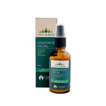 Hidratante Facial Natural e Vegano Maria da Selva - Cativa Natureza 50 ml