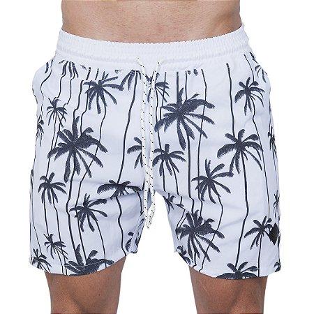 Shorts Tactel Masculino Branco Coqueiros