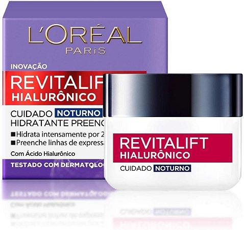 Creme Revitalift Hialurônico Noturno, L'Oréal Paris