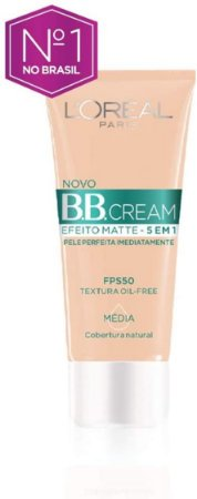 Bb Cream L'Oréal Paris Efeito Matte Fps 50 30G - Media