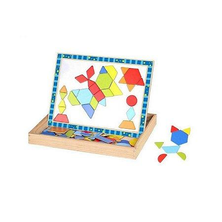 Quadro Magnético Tooky Toy Formas Geométricas