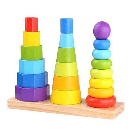 Encaixe Tooky Toy Formas Geométricas