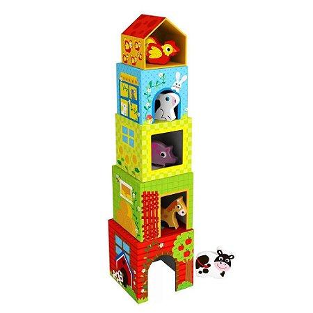 Caixa de Empilhar Tooky Toy Fazenda