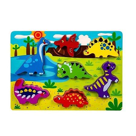 Tabuleiro Encaixe Tooky Toy Dinossauros