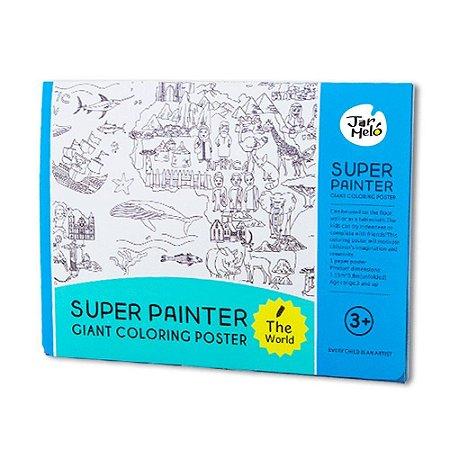 Pôster Gigante para Colorir Jar Meló Mundo