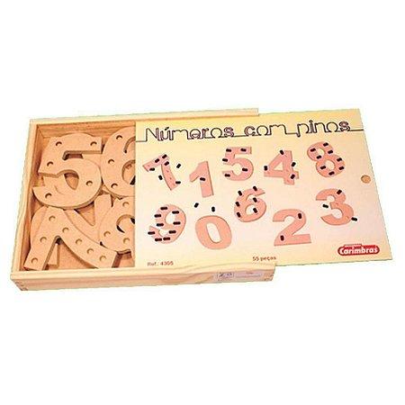 Caixa de Números com Pinos Carimbrás