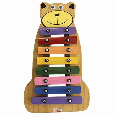 Metalofone Vibratom Urso Colorido