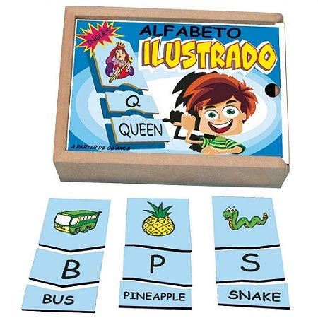 Jogo Alfabeto Ilustrado em Inglês Simque
