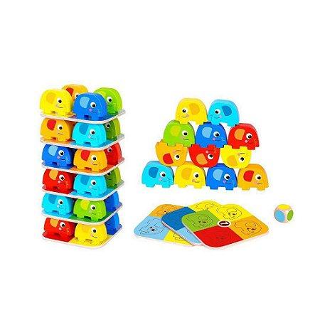 Jogo de Empilhar Elefantes Tooky Toy