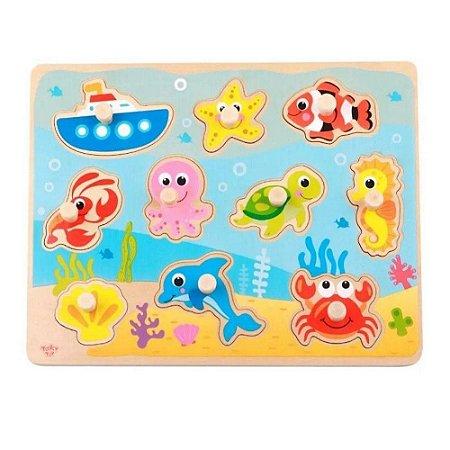 Encaixe com Pinos Tooky Toy Mar