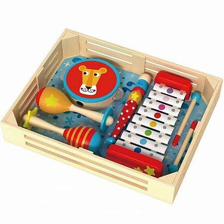 Caixa de Instrumentos Musicais em Madeira