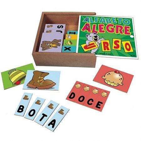 Jogo Alfabeto Alegre Simque de Madeira