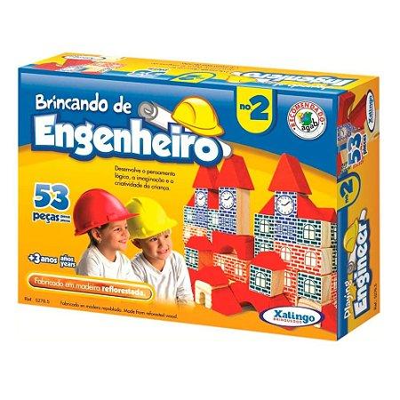 Brincando de Engenheiro II Xalingo 53 Peças