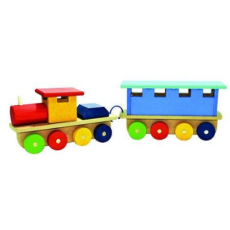 Trem de Madeira Maninho Colorido