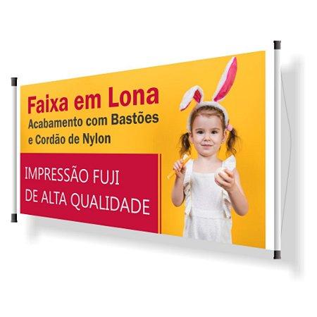 Banner Bastão Horizontal Lona 280g - 4x0