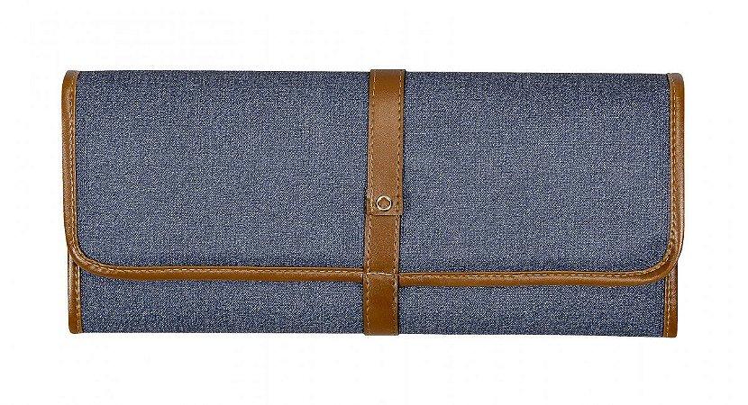 Trocador de bebê Aspen | Cor: Jeans/Caramelo