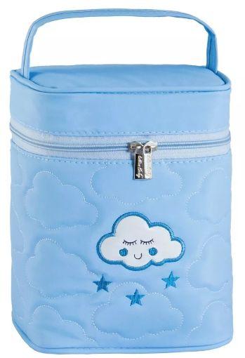 Porta Mamadeira Térmico Nuvem   Cor: Azul Claro