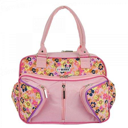 Bolsa Maternidade Disney Minnie Média - 2114 | Cor: Rosa