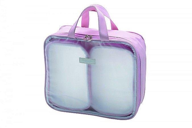 Kit Organizador de Mala Maternidade Conforto com 3 peças | Cor: Rosa