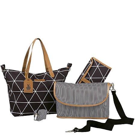 Bolsa Maternidade Masterbag Sofia 4 em 1 Manhattan | Cor: Black
