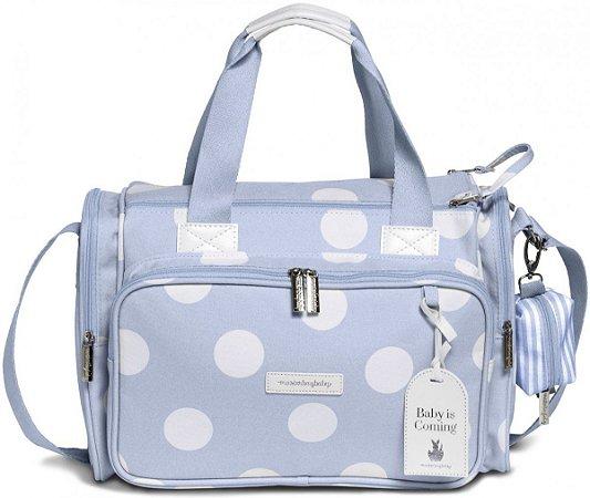 Bolsa Maternidade Térmica MasterBag Baby Anne Bubble | Cor: Azul