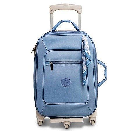 Mala Maternidade de Rodinha Fauna Masterbag 1 compartimento   Cor: Azul