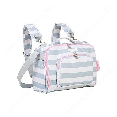 Bolsa Mochila Maternidade Masterbag Julie Baby Candy Colors | Cor: Ice Pink