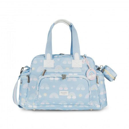 Bolsa Maternidade Everyday com Bolso Térmico Arco-íris Masterbag | Cor: Azul