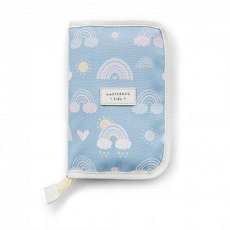 Porta Cartão de Vacinação e Documentos Arco-íris Masterbag   Cor: Azul