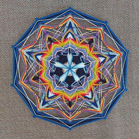 Mandala 10 pontas colorida 50 cm