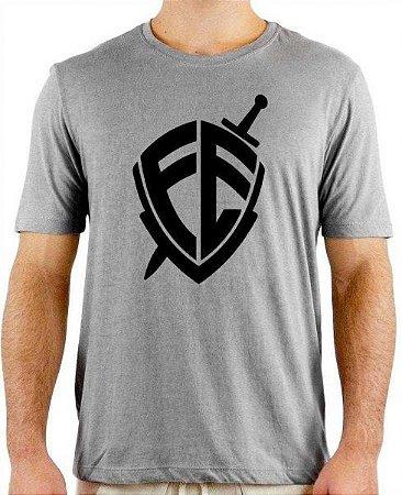 Camiseta Cinza Mescla Personalizada