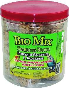 Sementes em Bloco para Periquitos e Calopsita - Bio Mix - c/ 20 un